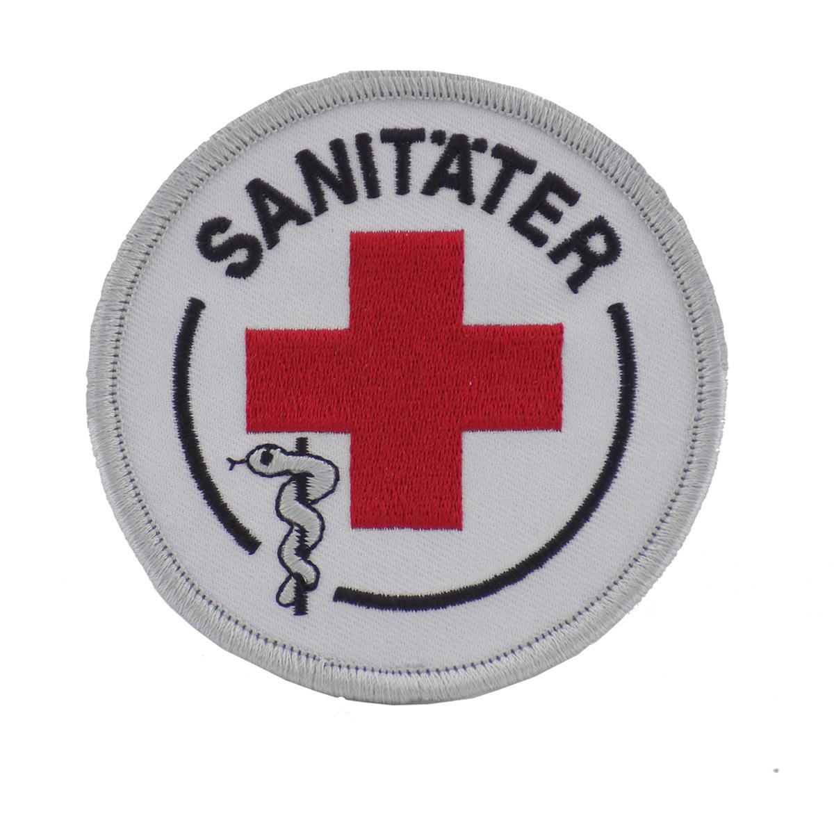 Fachkraftabzeichen Sanitäter mit Klett, VE = 2 Stück - rotkreuzshop.de | {Sanitäter symbol 24}