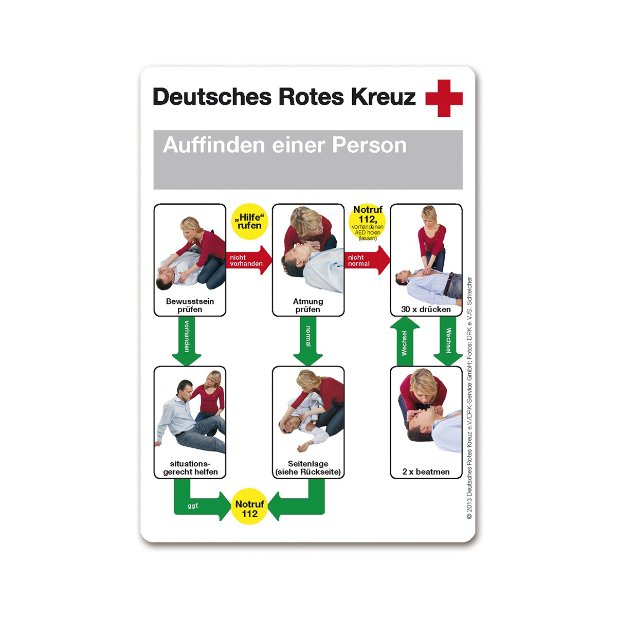 merkkarte auffinden einer person ve 50 st ck. Black Bedroom Furniture Sets. Home Design Ideas