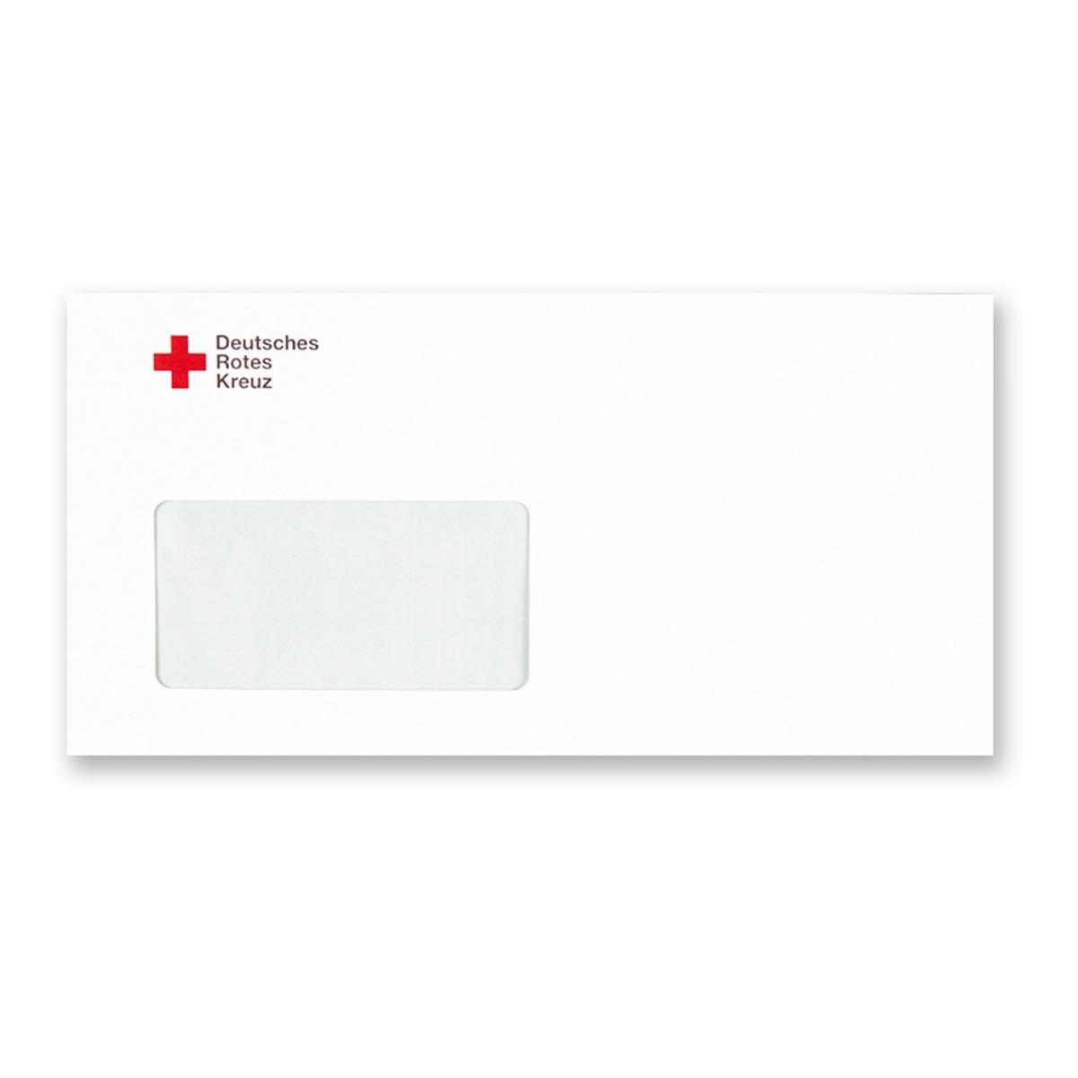Briefumschlag Mit Fenster Und Drk Kompaktlogo Din Lang Ve 1000