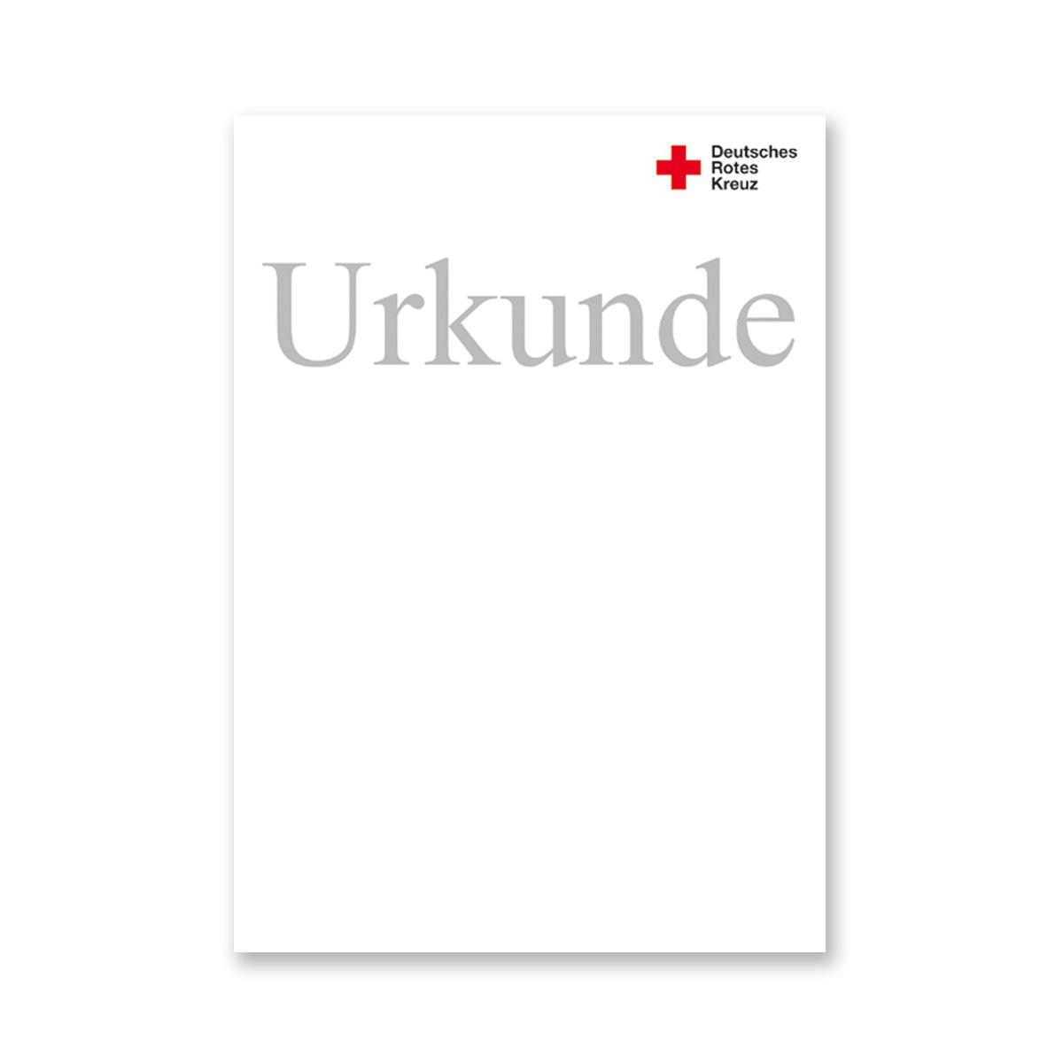 Urkunde blanko, VE = 10 Stück - rotkreuzshop.de